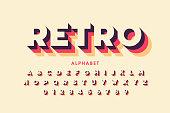 Retro style font design