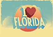 retro style vector 'i love' city postcard design