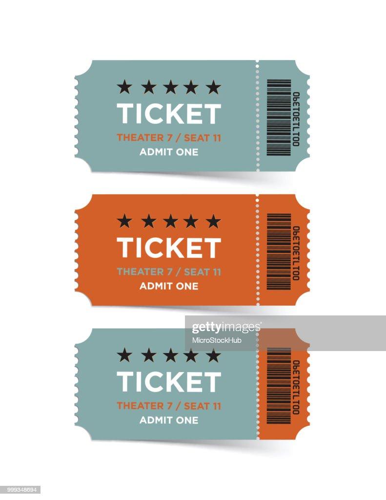 Retro Style Vector Ticket Set