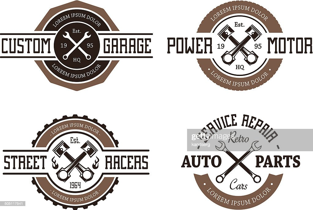 Retro Styled Auto Emblems
