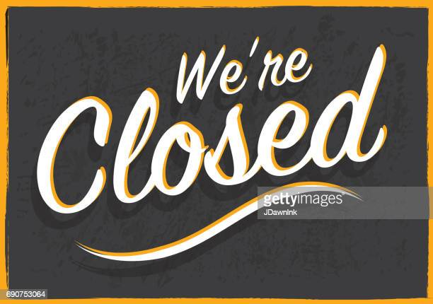 retro styled closed sign - closed sign stock illustrations