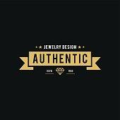 Retro Styled Diamond gemstone and Jewelry Design illustration