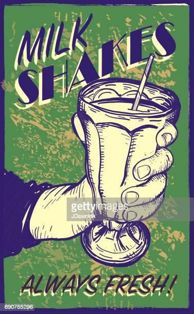 Retro styled Milk Shake sign