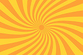 Retro sunburst ray in vintage style. Spiral effect. Abstract comic book background