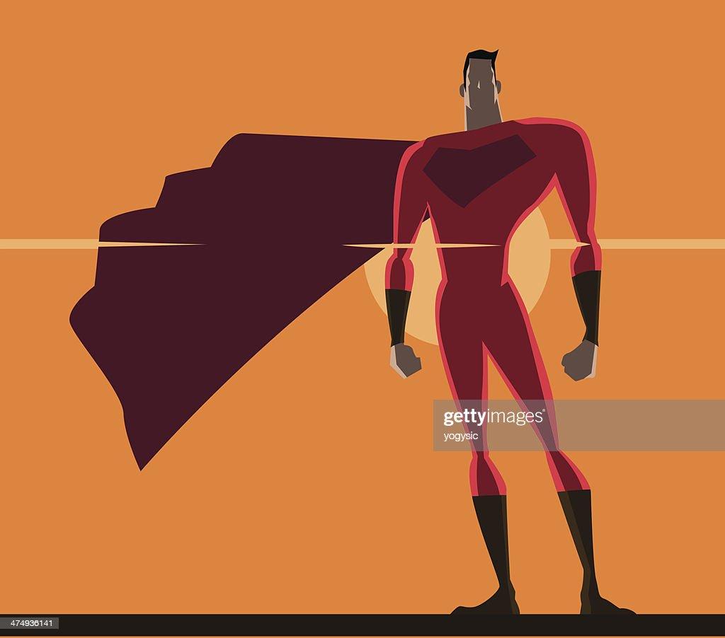 Retro Superhero Art: Retro Superhero Poster Vector Art