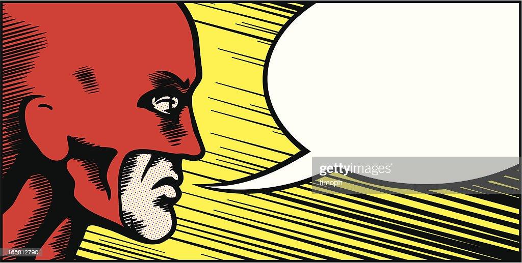Retro superhero speech bubble