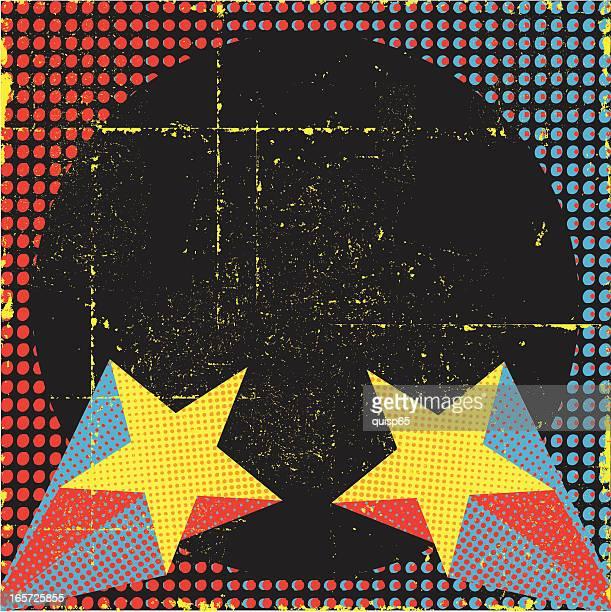 retro superstar background - pop art stock illustrations