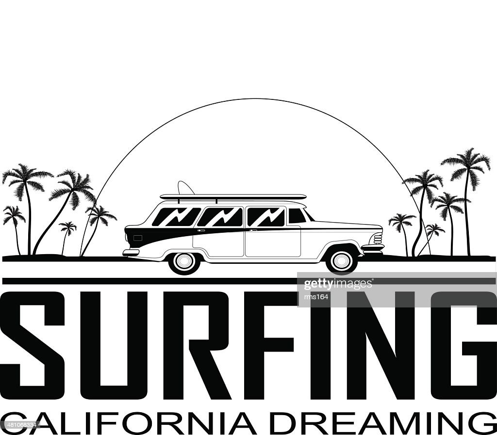 Retro Surfboard  Car