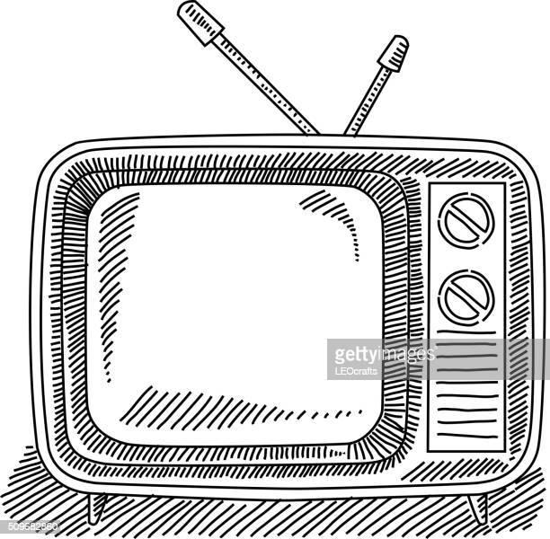 Retro Television Drawing
