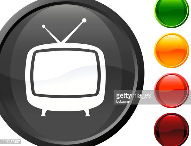 retro television internet royalty free vector art - television aerial stock illustrations, clip art, cartoons, & icons
