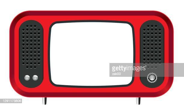 bildbanksillustrationer, clip art samt tecknat material och ikoner med retro television - film and television screening