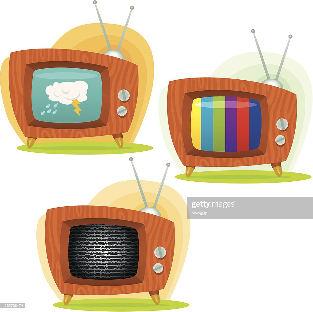 retro televisions vector art getty images
