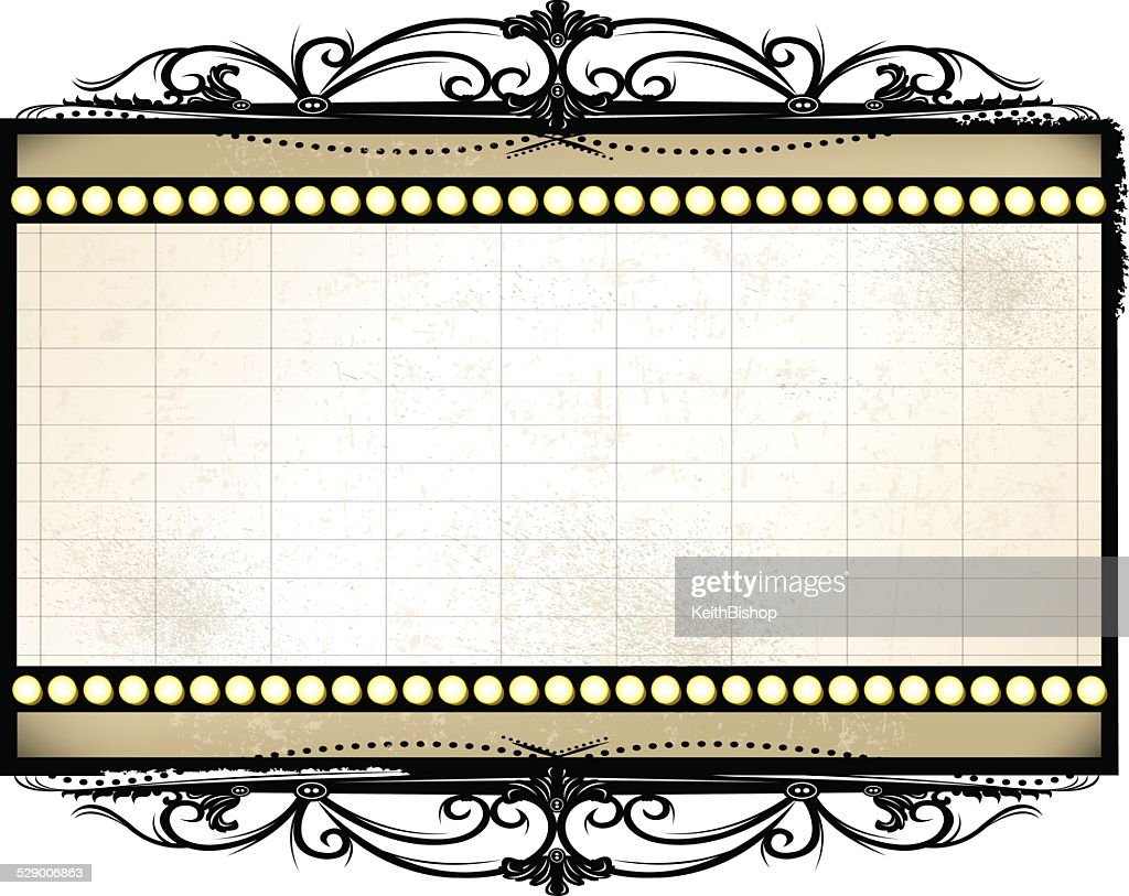 Retro Theater Marquee Background : stock illustration