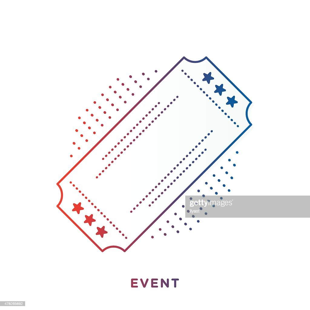 Retro Ticket Symbol