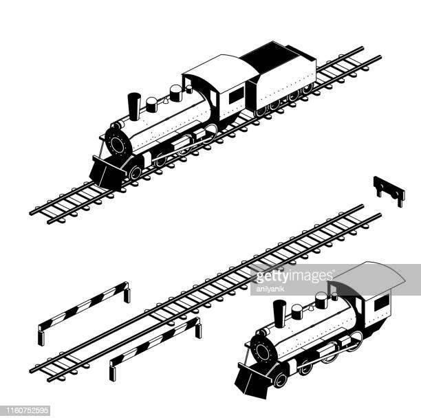 retro train - sports training stock illustrations