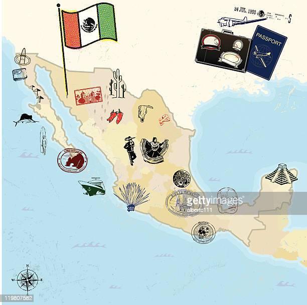 Retro viagens Marcos e México