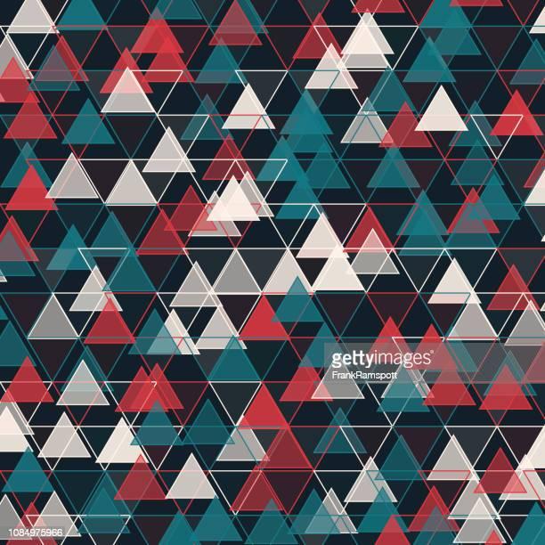Retro-Dreieck-Vektor-Design-Pattern