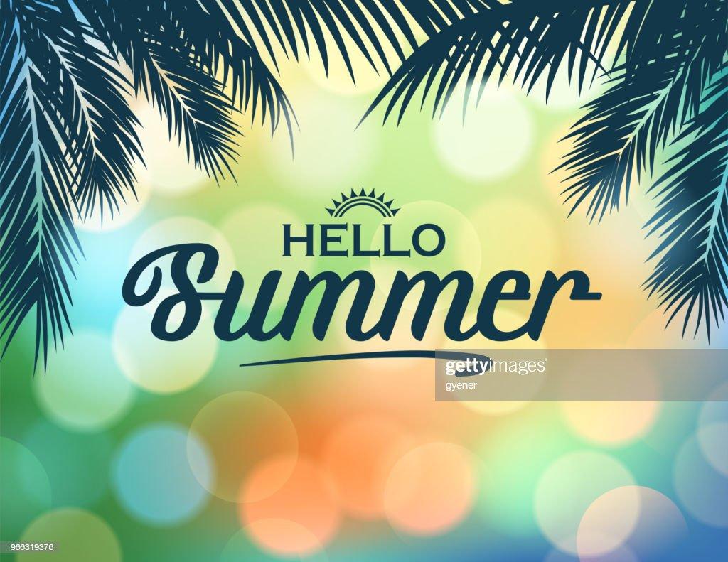 Retro-tropische Sommer : Stock-Illustration
