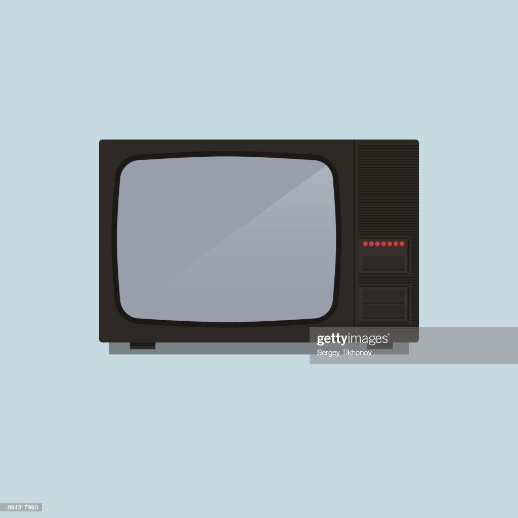 Retro TV 80's vector illustration