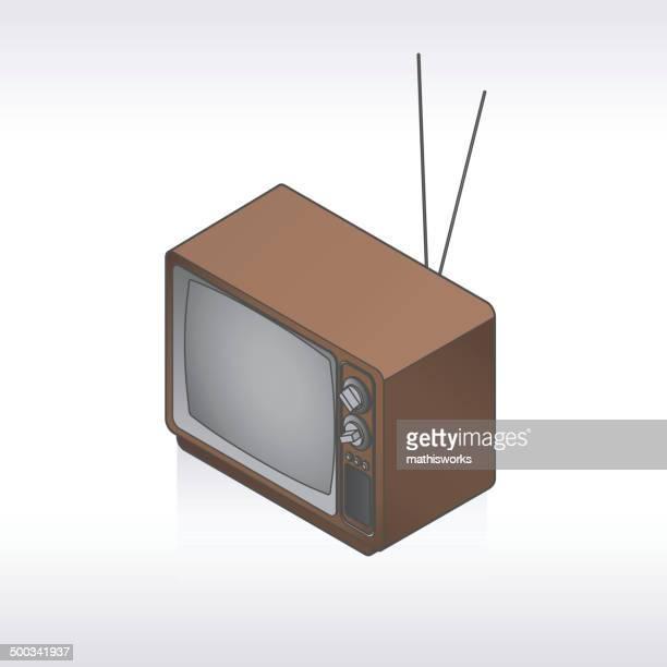 ilustrações de stock, clip art, desenhos animados e ícones de retro ilustração de tv - mathisworks