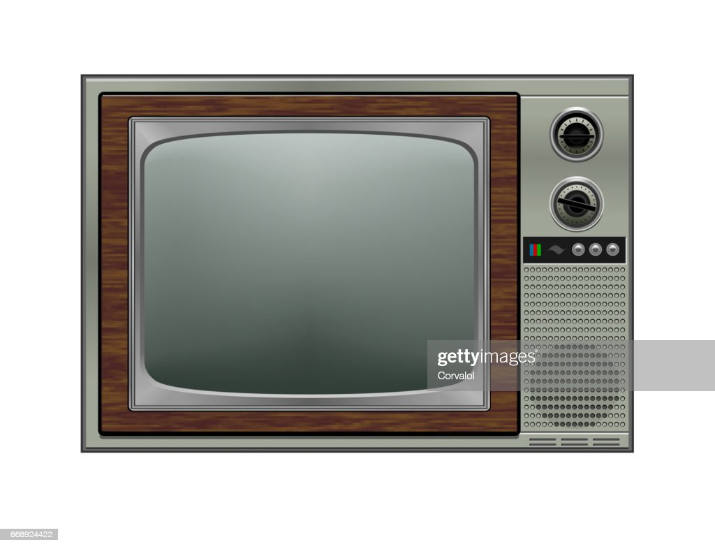 Retro tv, illustration