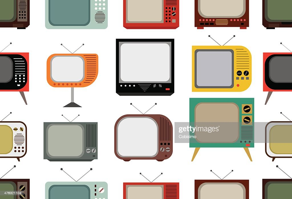 Retro tv pattern