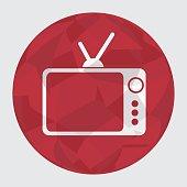 retro tv silhouette icon