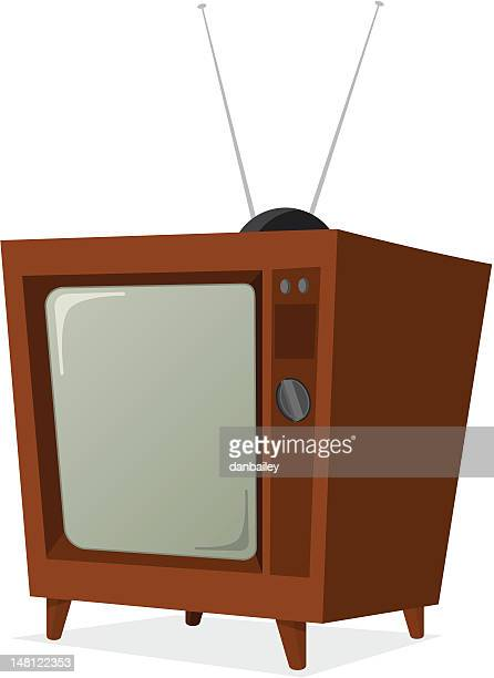 retro tv - part of a series stock illustrations