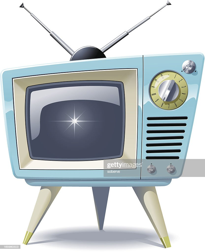 retro tv vector art
