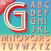 Retro typefaces Upper cases