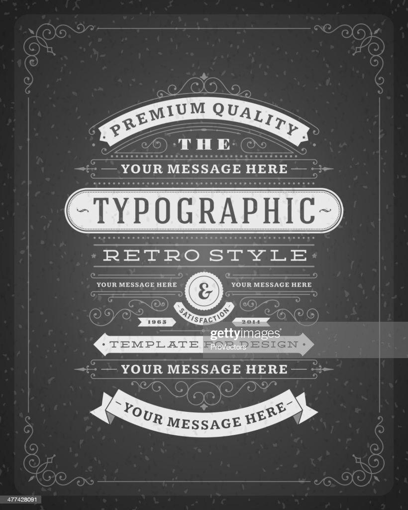 Retro typographic design elements