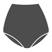 Retro underpants solid icon, clothes concept, underwear sign on white background, underpants icon in glyph style for mobile concept and web design. Vector graphics.