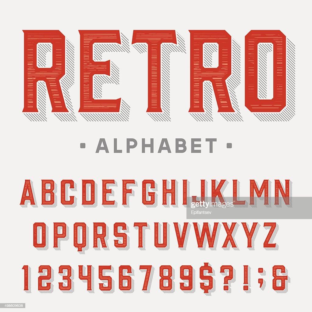 Retro vector font.