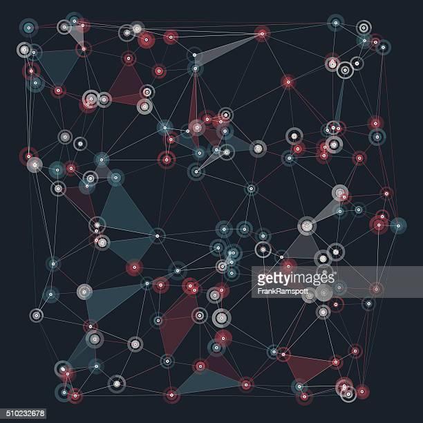 Retro Vektor Polygon-Muster