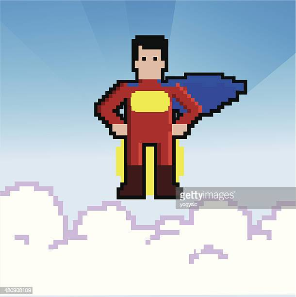 Retro Video Game superhero
