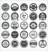 Retro vintage badge and label collection
