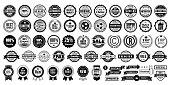 Retro vintage badges collection stock illustration