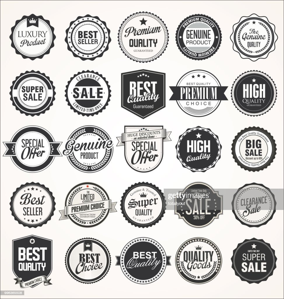 Retro vintage badges collection