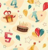 Retro vintage happy birthday pattern
