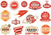 Retro vintage labels and badges