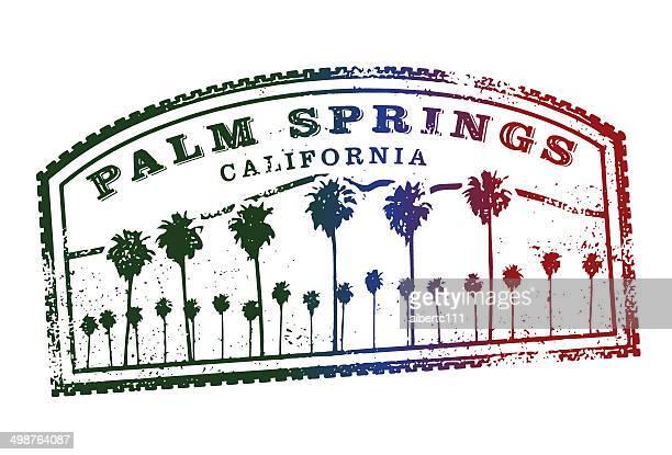 ilustrações, clipart, desenhos animados e ícones de retro vintage carimbo de palm springs - palm springs