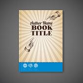 Retro vintage Vector brochure / book / flyer template