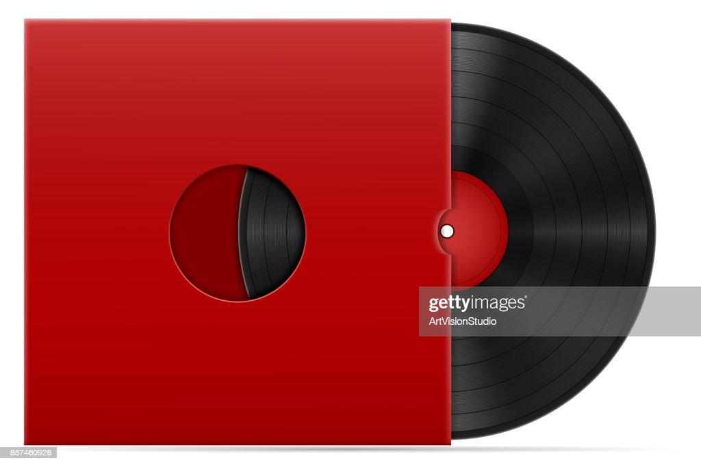 retro vinyl disk stock vector illustration
