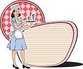 retro waitress sixties