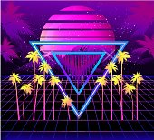 Retro Wave Sunset