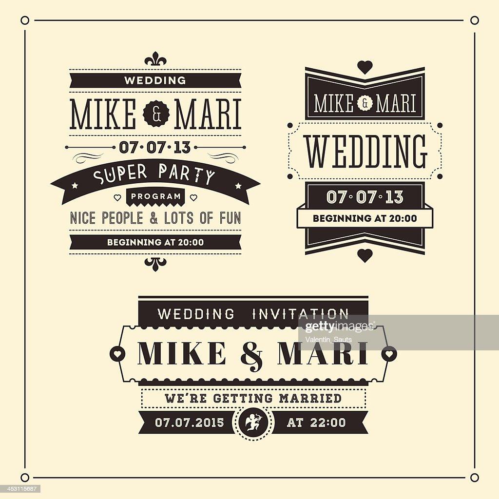 Retro Weddings Invitations