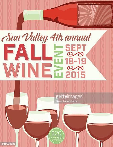 Retro Wine Tasting Event Invitation Poster Template