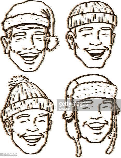 レトロな毛糸の帽子