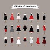 Retro woman dresses