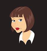 Retro woman illustration in 50's style.
